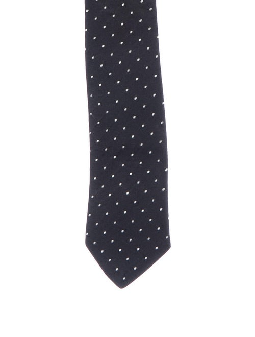 Prada Polka-Dot Silk Tie black
