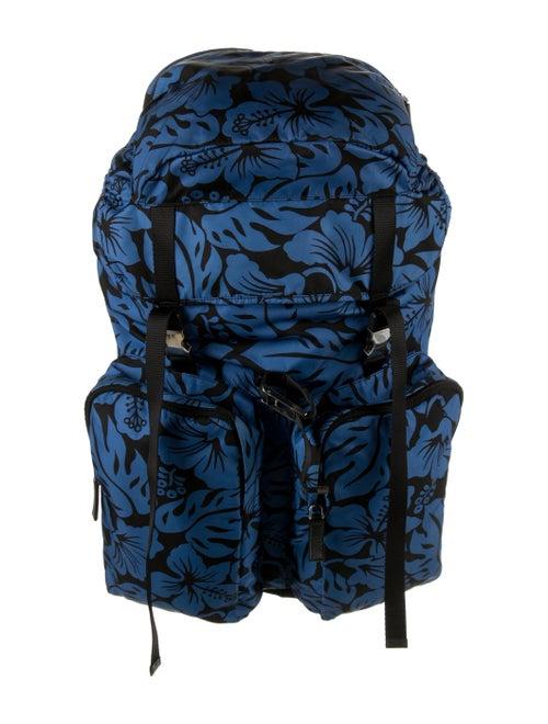 Prada Tessuto Nylon Backpack Blue