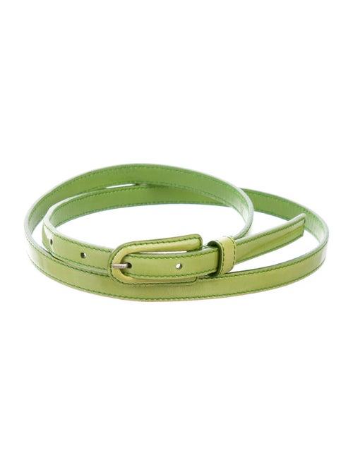 Prada Patent Leather Belt Green