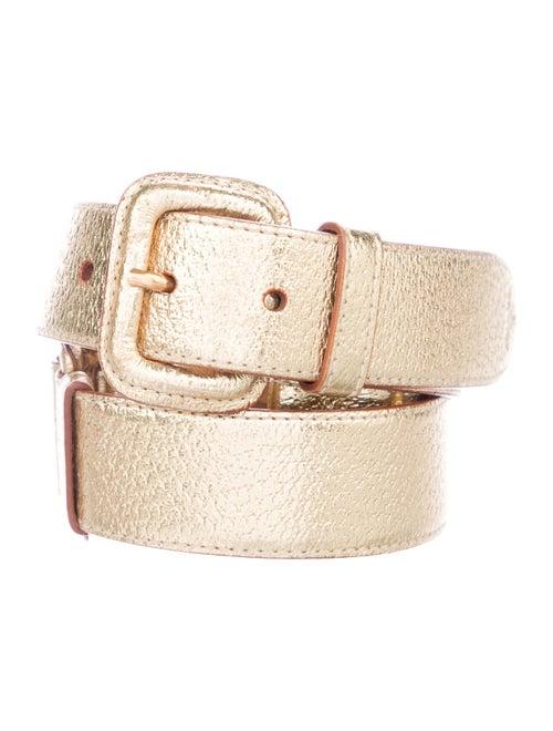 Prada Leather Belt Gold