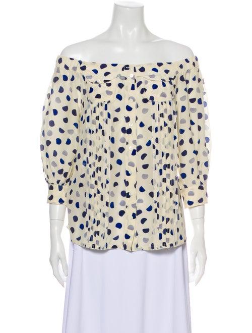 Prada 2008 Silk Blouse White
