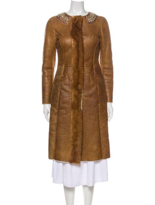 Prada Shearling Coat Brown