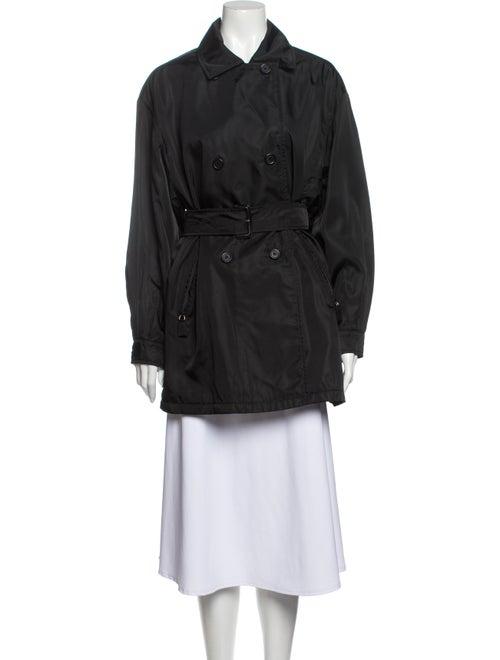 Prada Vintage 1990's Trench Coat Black