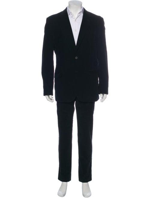 Prada Corduroy Striped Two-Piece Suit Black