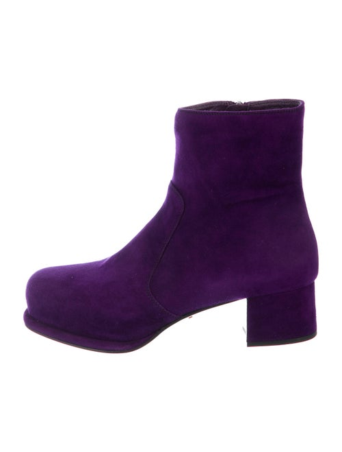 Prada Suede Boots Purple
