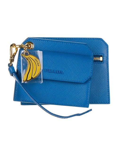 Prada Keyring Wallet Blue