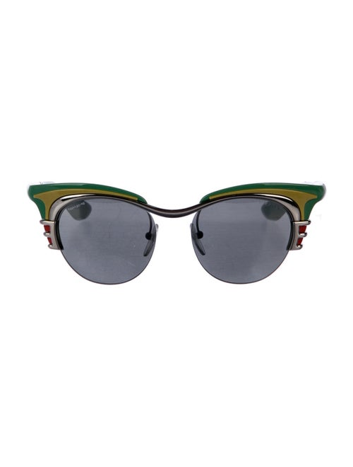 Prada Cat-Eye Mirrored Sunglasses Green