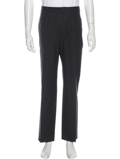 Prada Striped Dress Pants Grey
