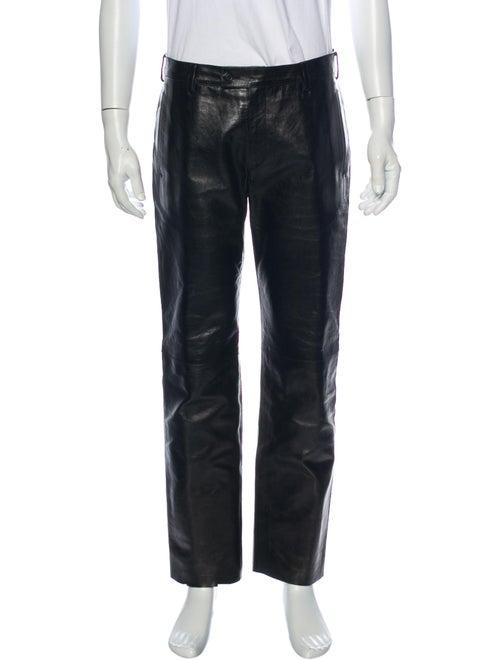 Prada Leather Pants Black