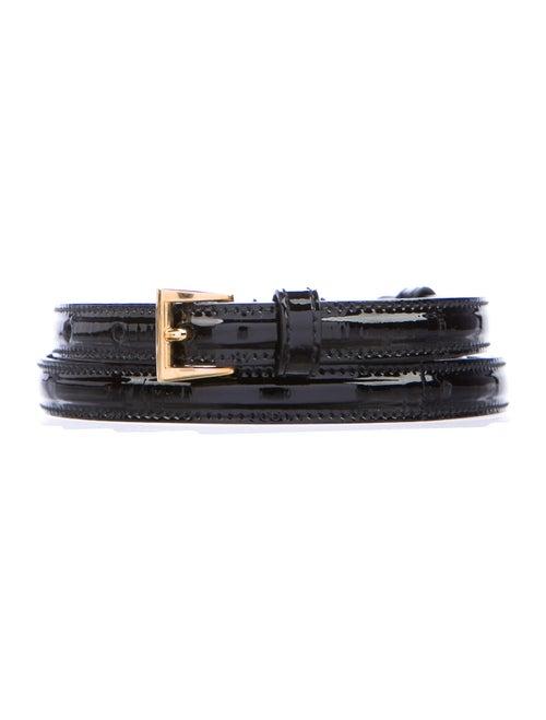Prada Patent Leather Belt Black