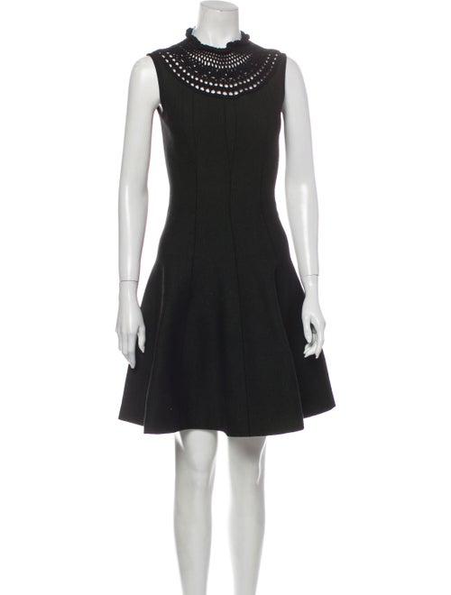 Prada Mock Neck Mini Dress