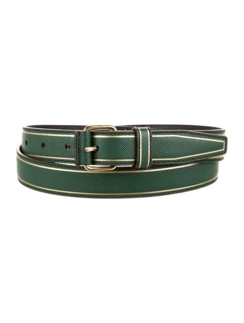 Prada Leather Belt Green
