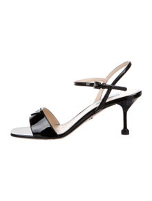 Prada Patent Leather Printed Sandals