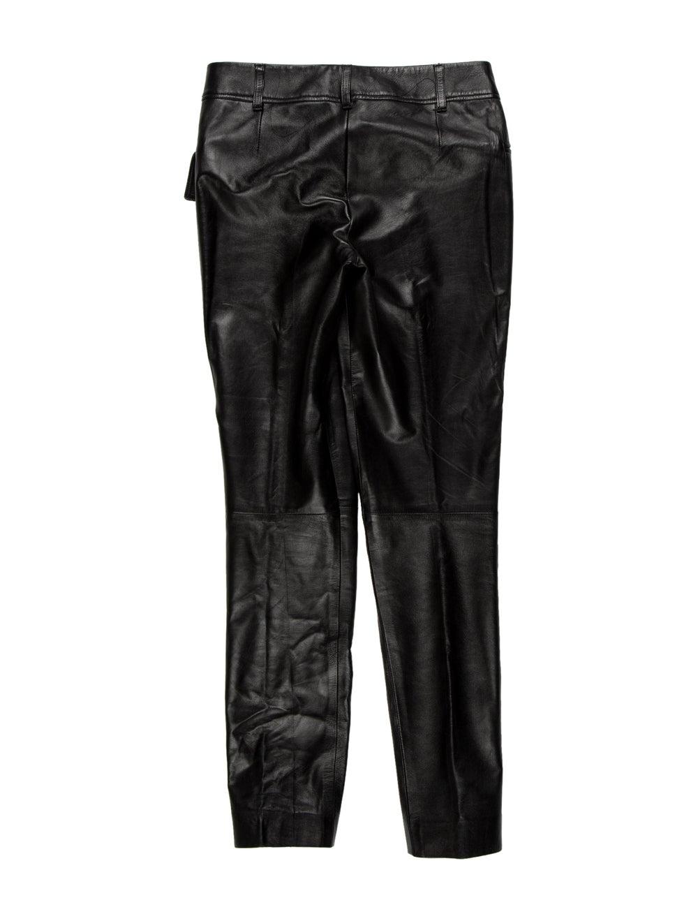 Prada Leather Skinny Leg Pants Black - image 2