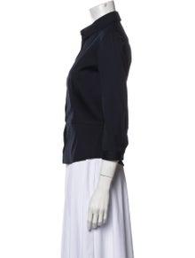 Prada Three-Quarter Sleeve Button-Up Top