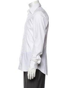 Prada Patterned Long Sleeve Tuxedo Shirt