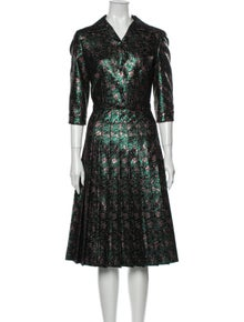Prada Patterned Midi Length Dress