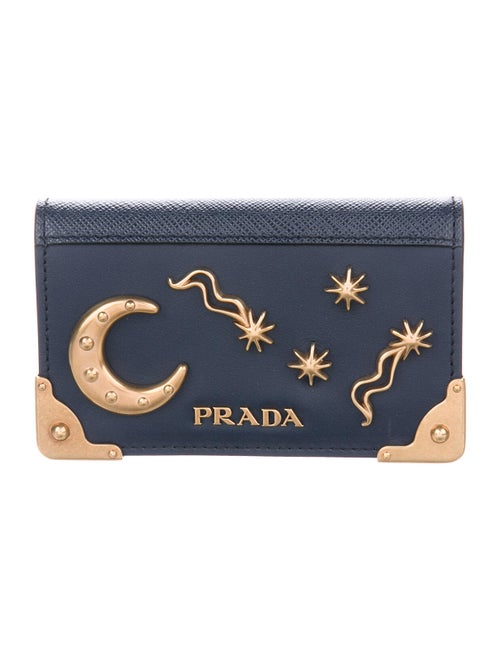 Prada Leather Wallet Blue