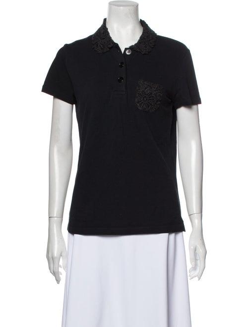 Prada Short Sleeve Polo Black