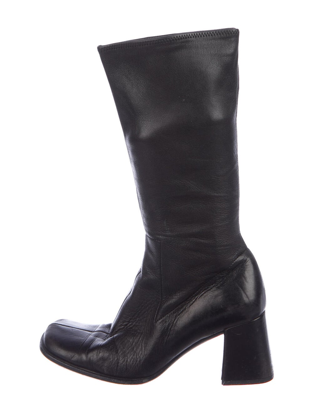 Prada Leather Boots Black - image 1