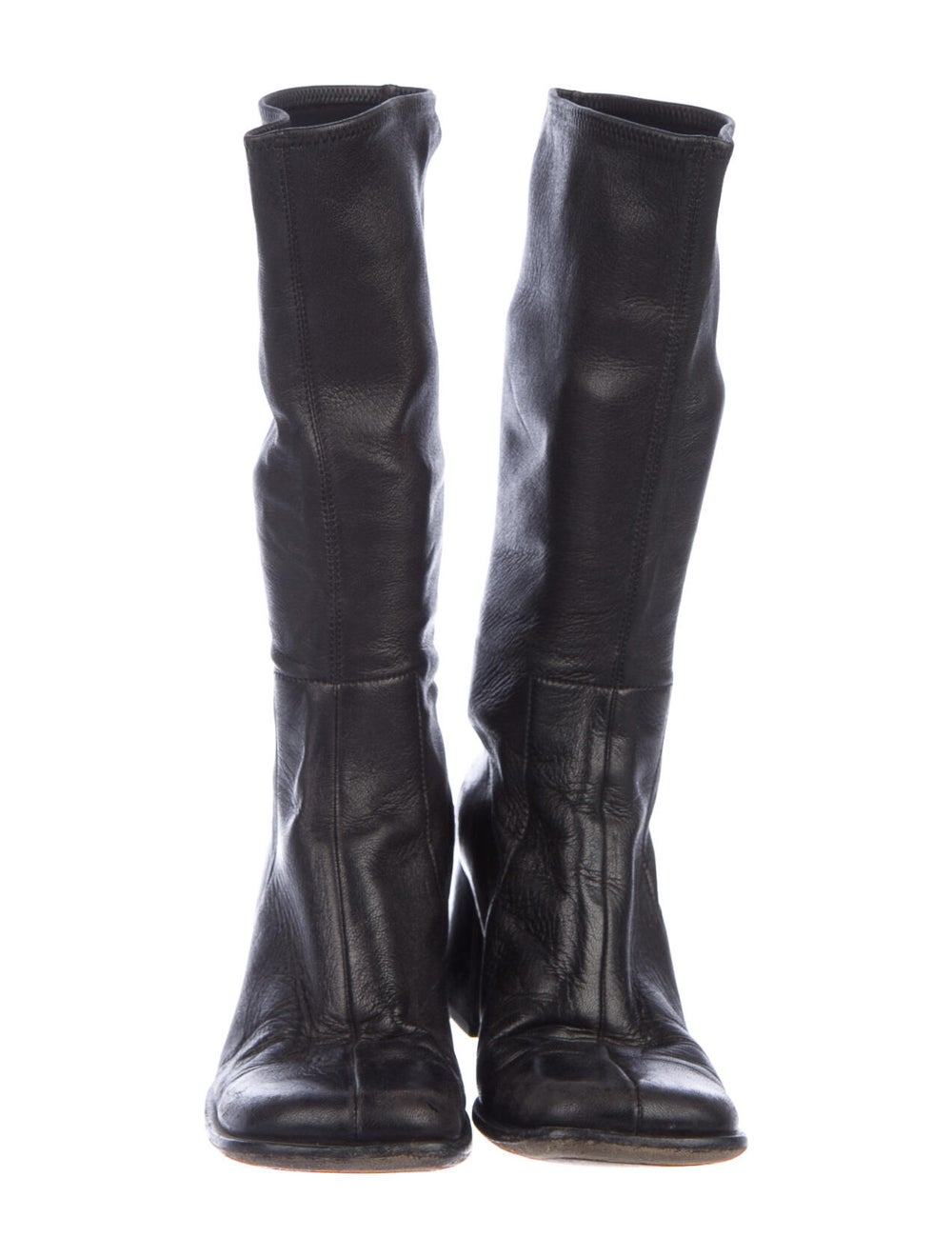 Prada Leather Boots Black - image 3