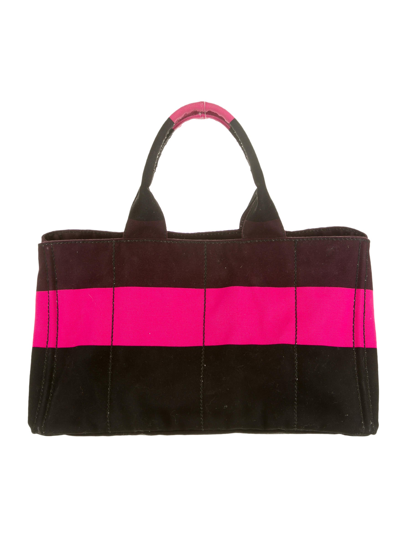 68d90a8e2e95 Prada Canapa Stripe Tote - Handbags - PRA48998   The RealReal