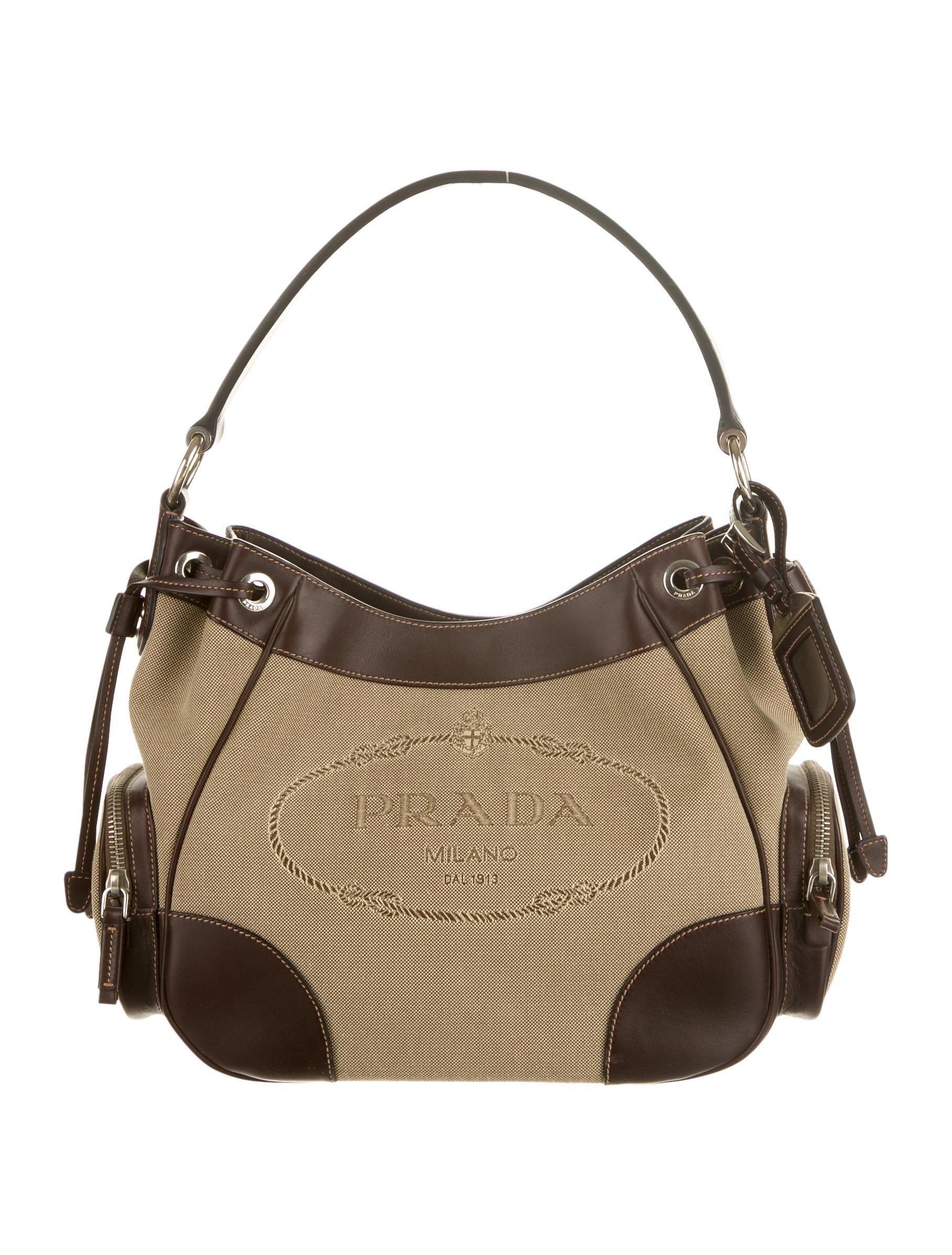 Logo Jacquard Shoulder Bag