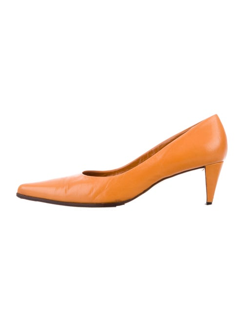 Prada Leather Pumps Orange