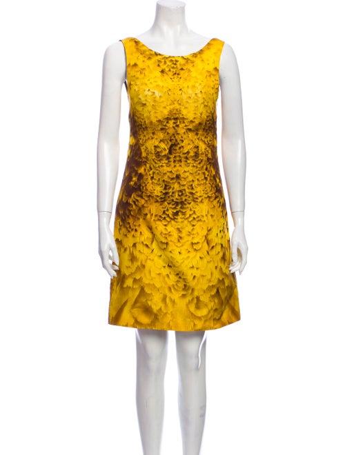 Prada Vintage Mini Dress Yellow