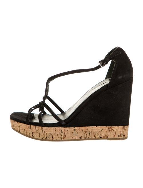 Prada Suede Sandals Black