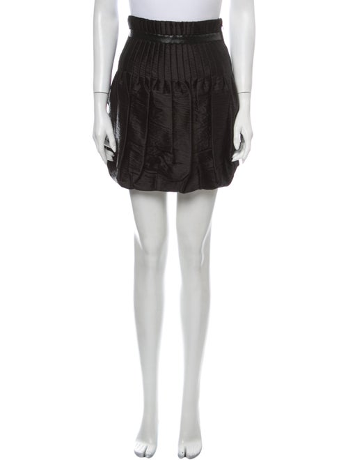 Prada Pleated Accents Mini Skirt Black