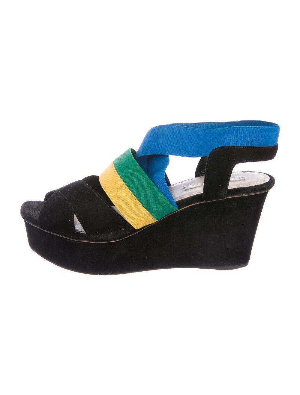 Prada Suede Sandals Blue - image 1