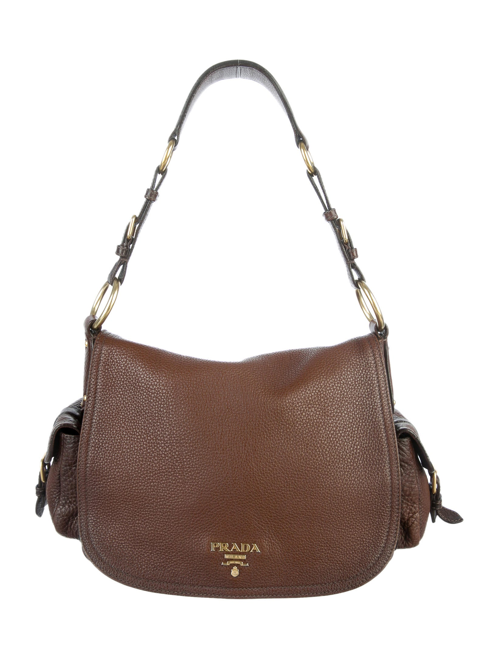 f48add296b1e Prada Vitello Daino Flap Bag - Handbags - PRA50155