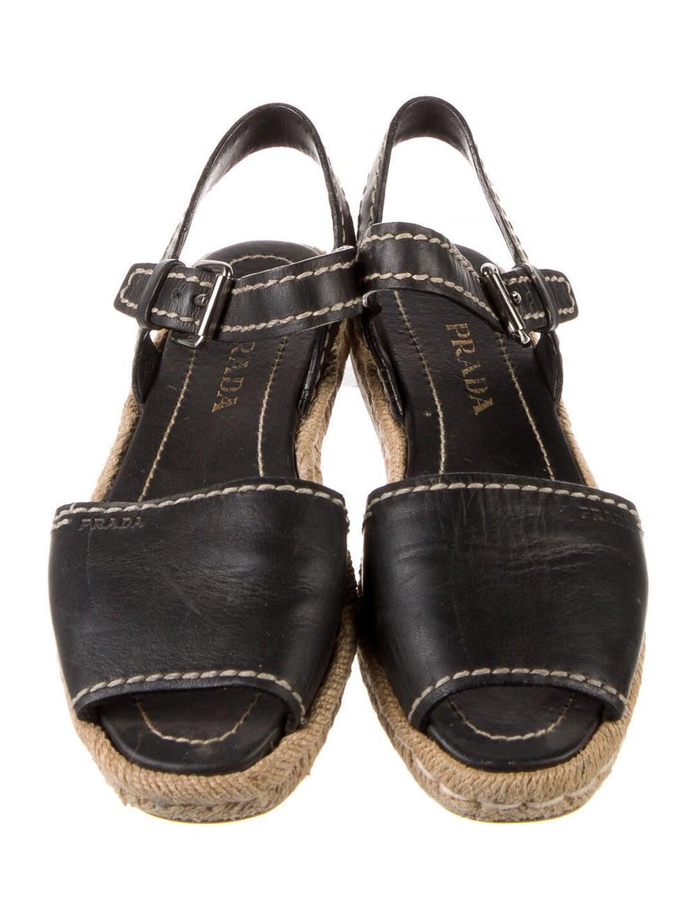 Prada Leather Espadrilles Black - image 3