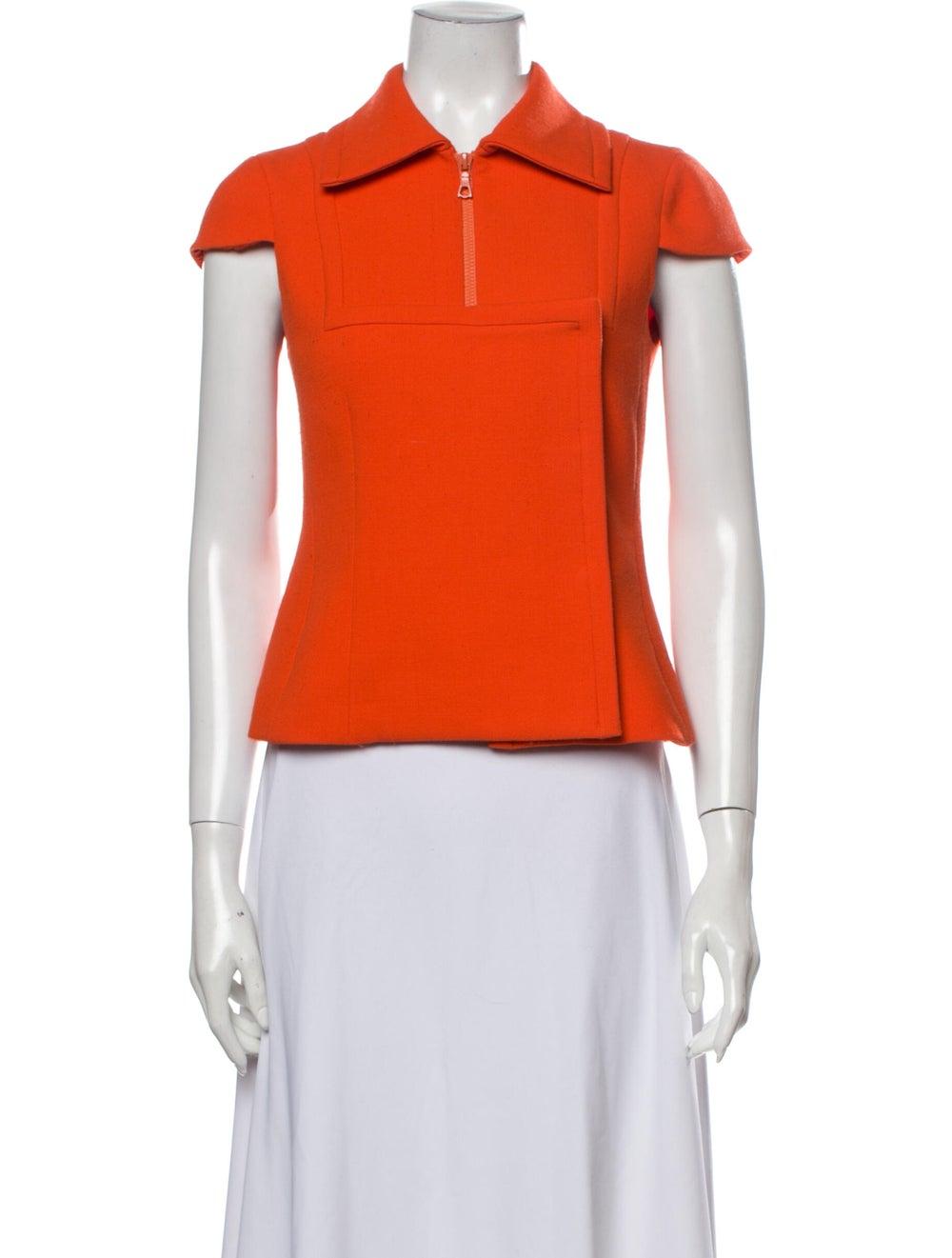 Prada Virgin Wool Short Sleeve Polo Wool - image 1