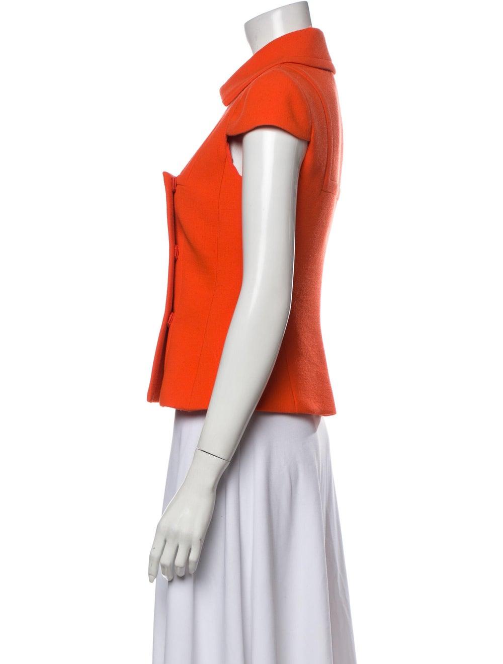 Prada Virgin Wool Short Sleeve Polo Wool - image 2