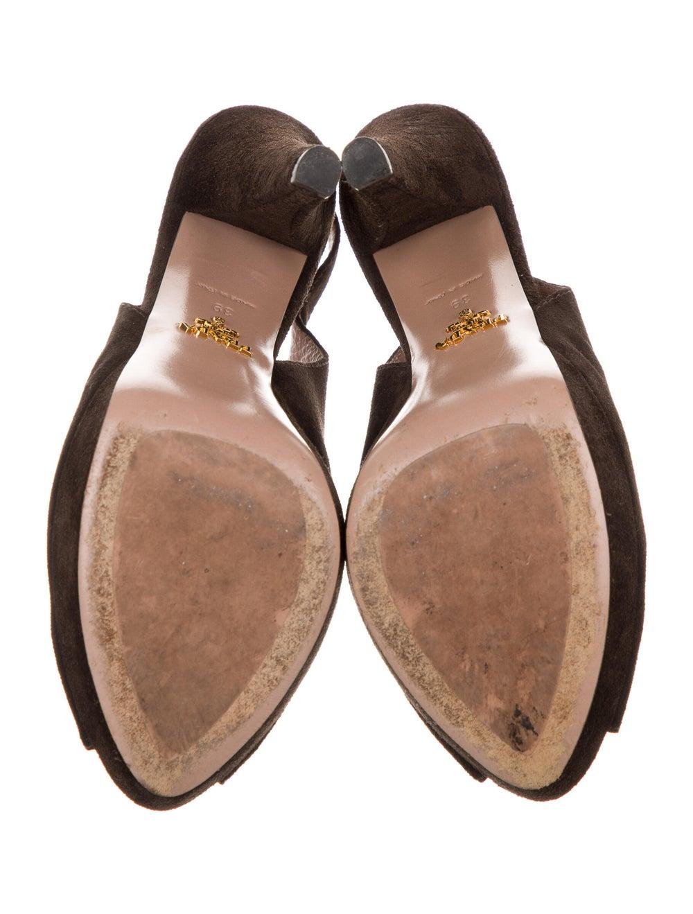 Prada Suede Slingback Sandals Brown - image 5