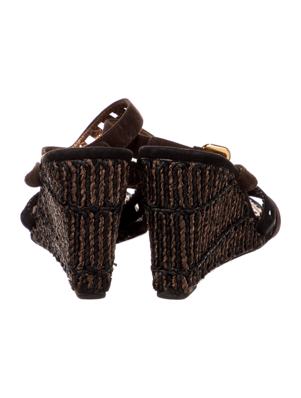 Prada Leather Espadrilles Black - image 4
