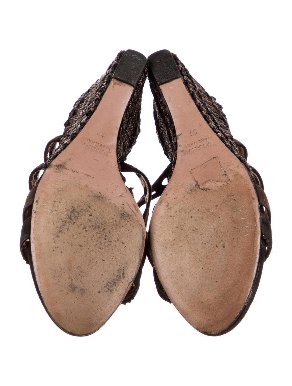 Prada Leather Espadrilles Black - image 5