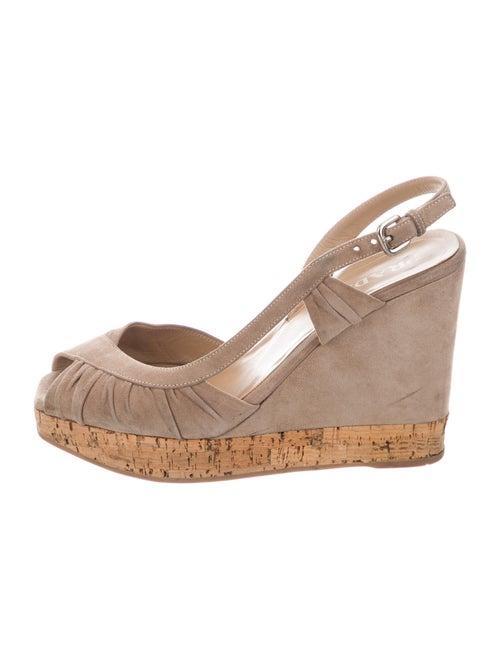 Prada Suede Slingback Sandals - image 1