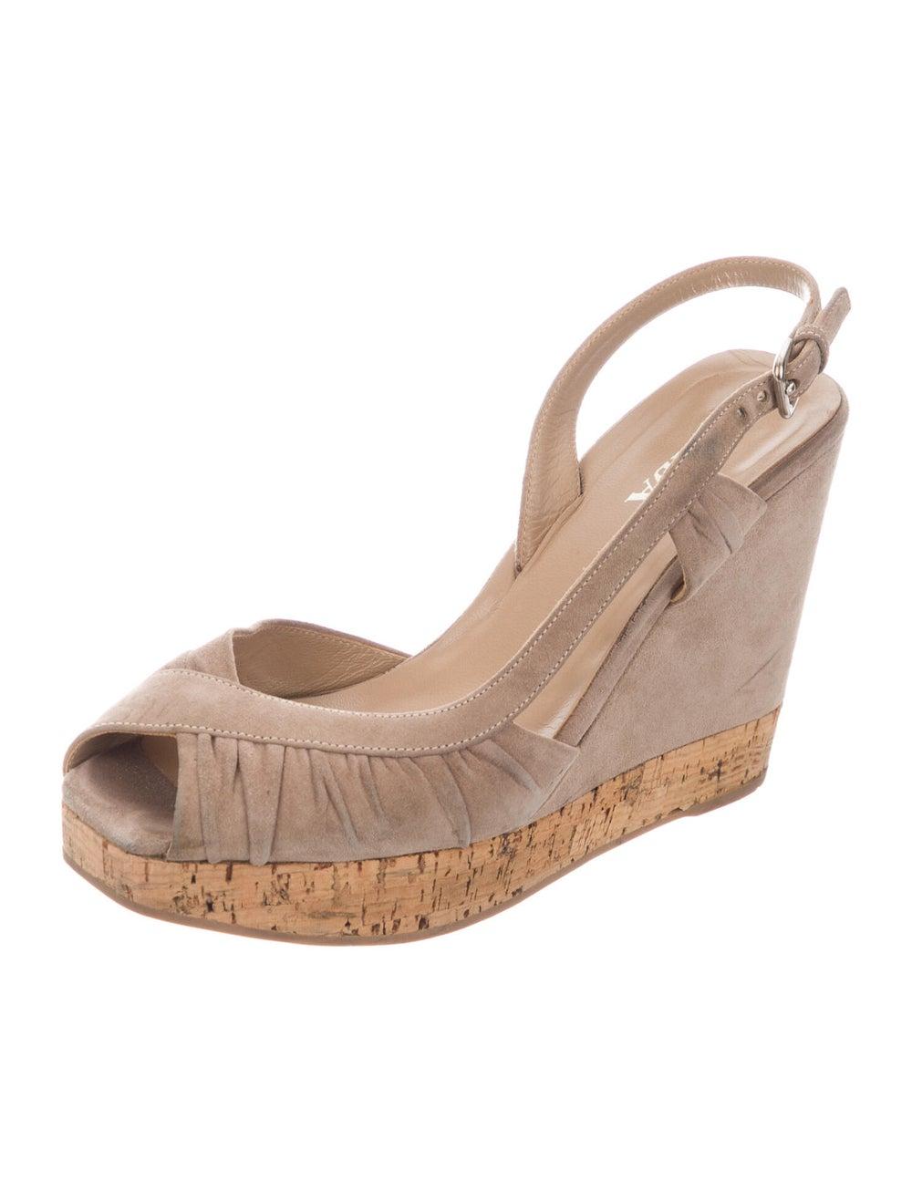 Prada Suede Slingback Sandals - image 2