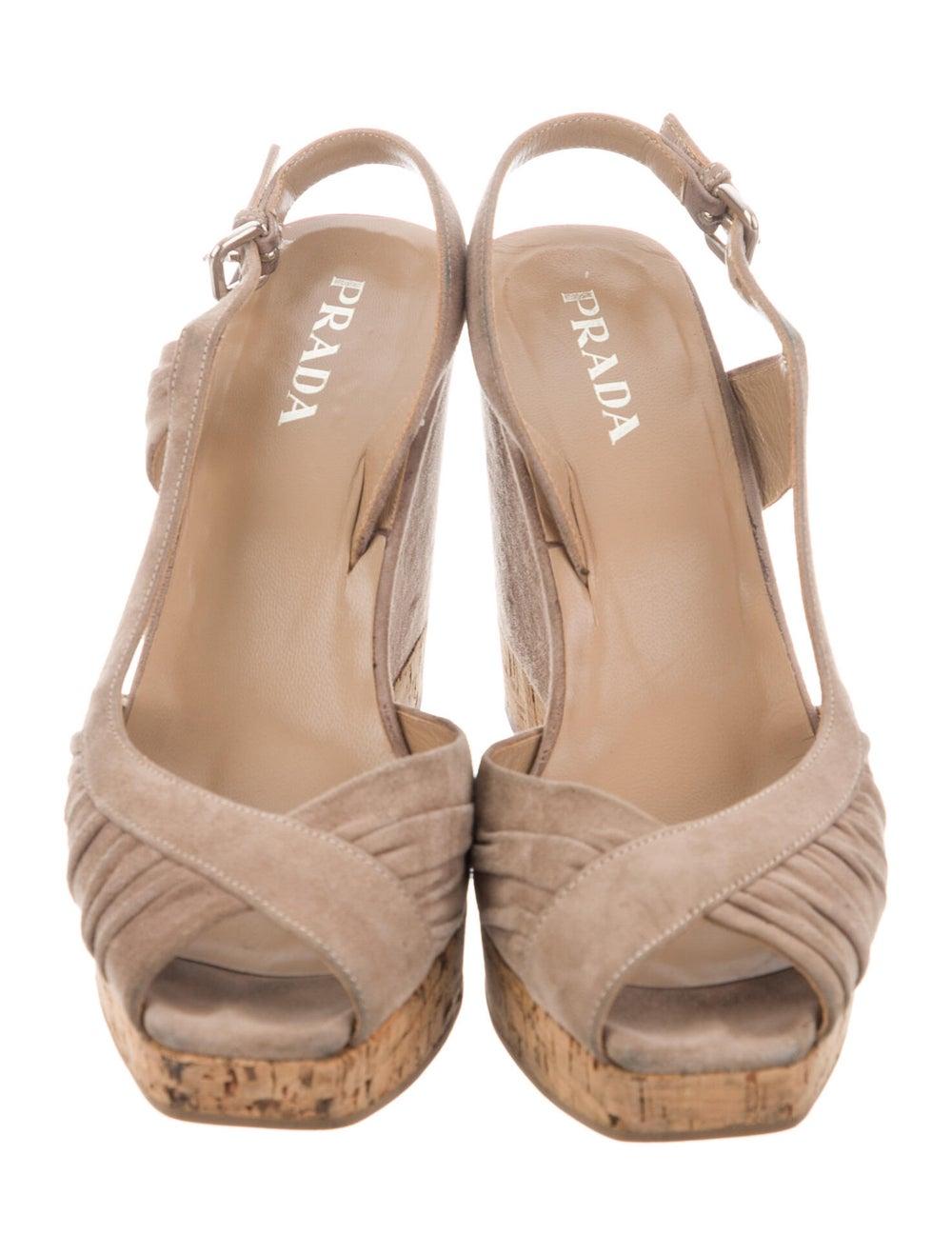 Prada Suede Slingback Sandals - image 3