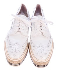 0cebdb97 Prada Espadrille & Rubber-Platform Metallic Brogues - Shoes ...