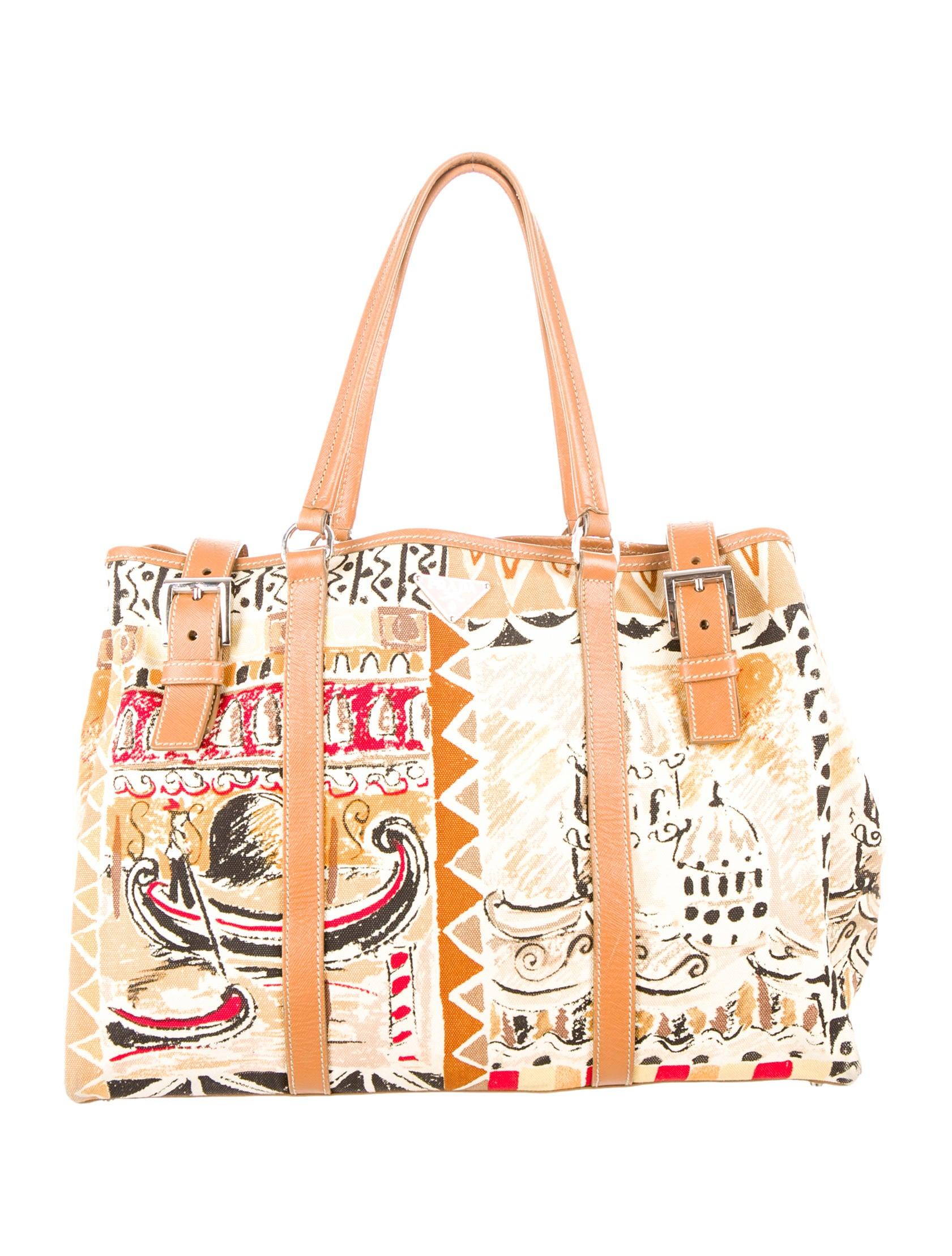 Prada Venice Canvas Tote - Handbags - PRA51624  ca408b7d76560