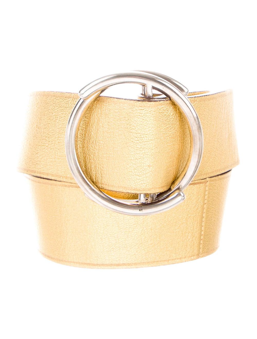 Prada Leather Belt Gold - image 1