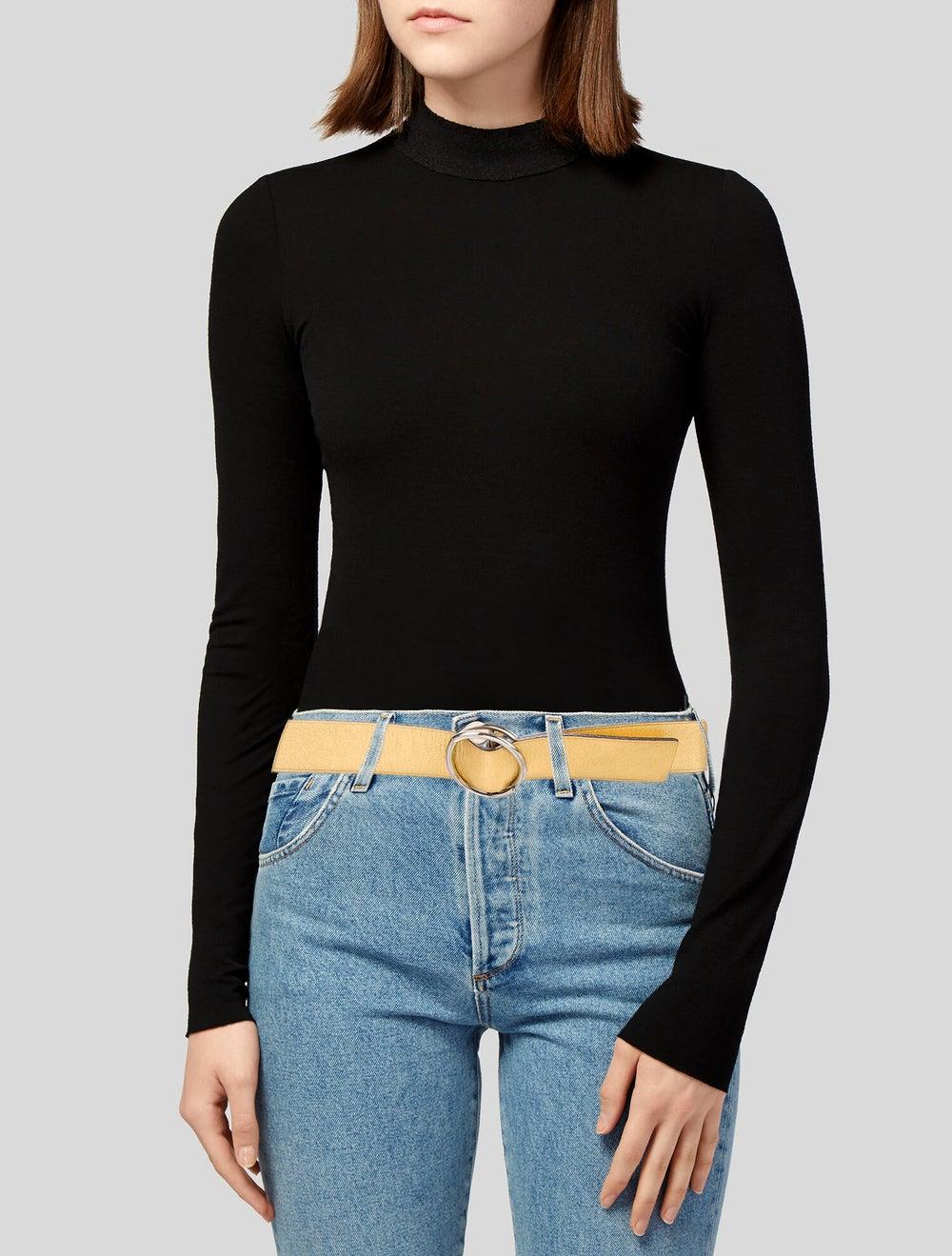 Prada Leather Belt Gold - image 2