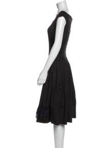 Prada Scoop Neck Midi Length Dress