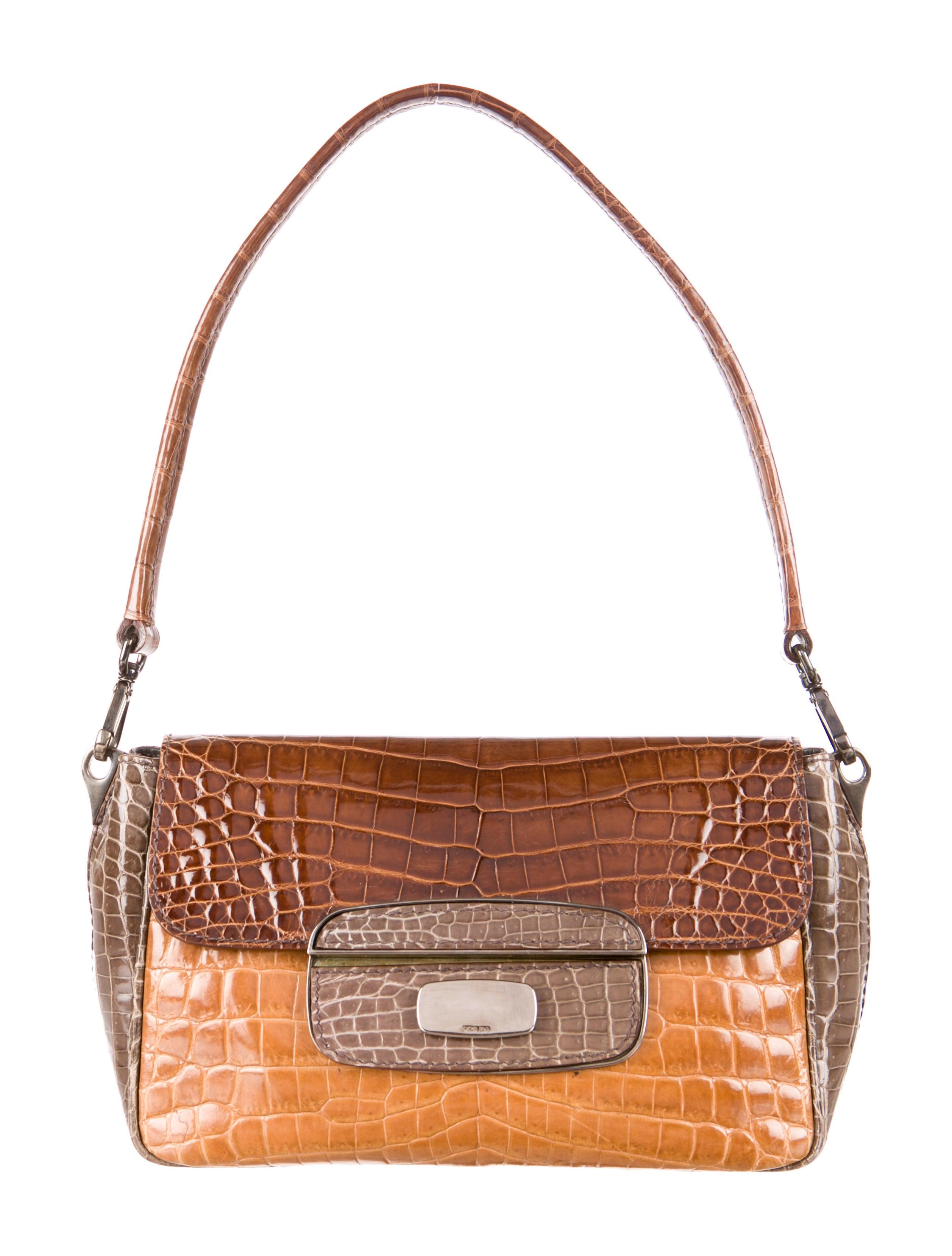 03bc690dca7e Prada Glazed Crocodile Bag - Handbags - PRA52119 | The RealReal