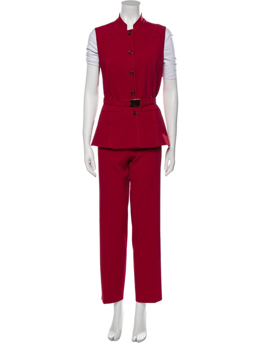 Prada Vintage 1990's Pant Set Red - image 1