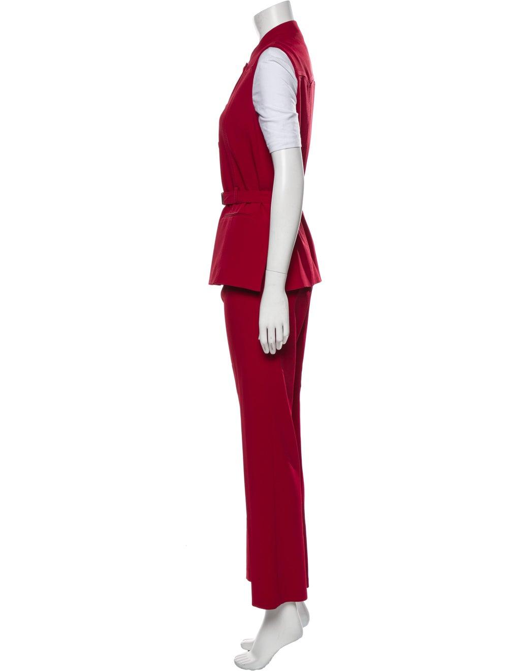 Prada Vintage 1990's Pant Set Red - image 2